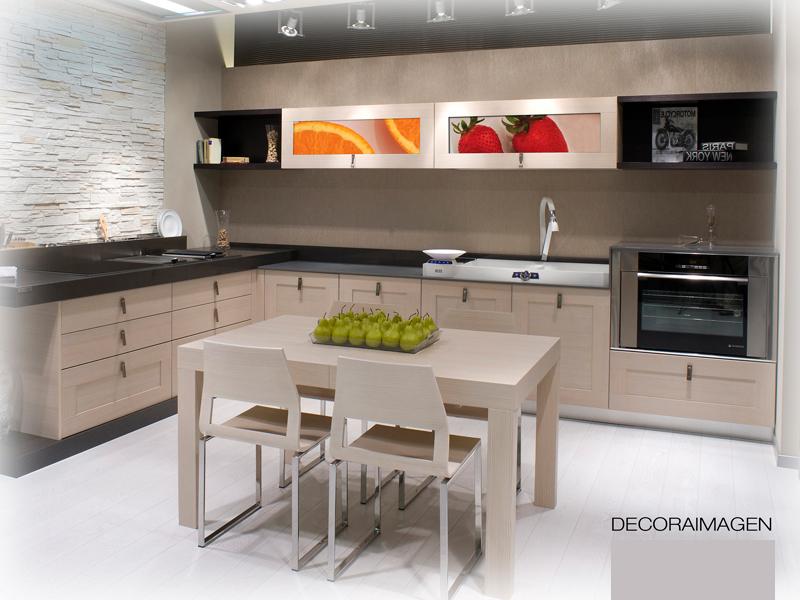 Decoraci n de cocinas dise o fotos y decoracion de - Cocinas modernas sencillas ...